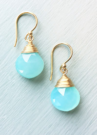 Summery all year round, chalcedony is a customer's favorite at our shop.