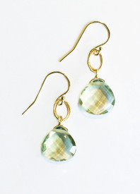 Big faceted stones of green amethyst!