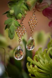 Marquis White Topaz Earrings in Rose Gold