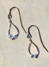 Gold filled earrings with silver accents