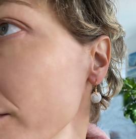 Starfish Coin Pearl Earrings