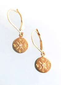 Compass earrings for a joyful journey!