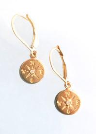 Compass earrings for a joyful journey!