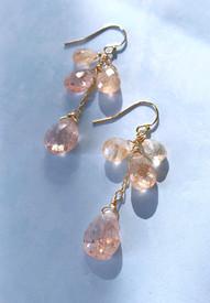 Sunstone cascade earrings
