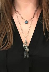 Bewitching jumble  labradorite necklace