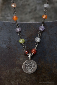 Multi-color Chain with Lotus Charm
