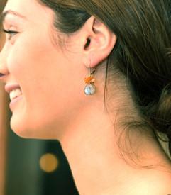 Colorful Labradorite Cluster Earrings