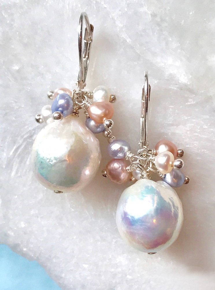 f941ce02c Baroque Freshwater Pearl Earrings for Bridal, Mother of the Bride