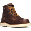 "Bull Run Moc Toe 6"" Brown Steel Toe."