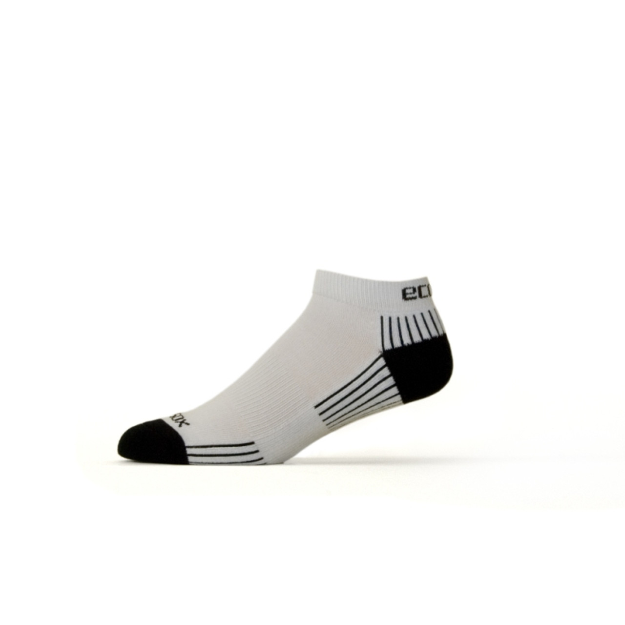 Active Sport Lo Cut Large White with Black by Eco Sox