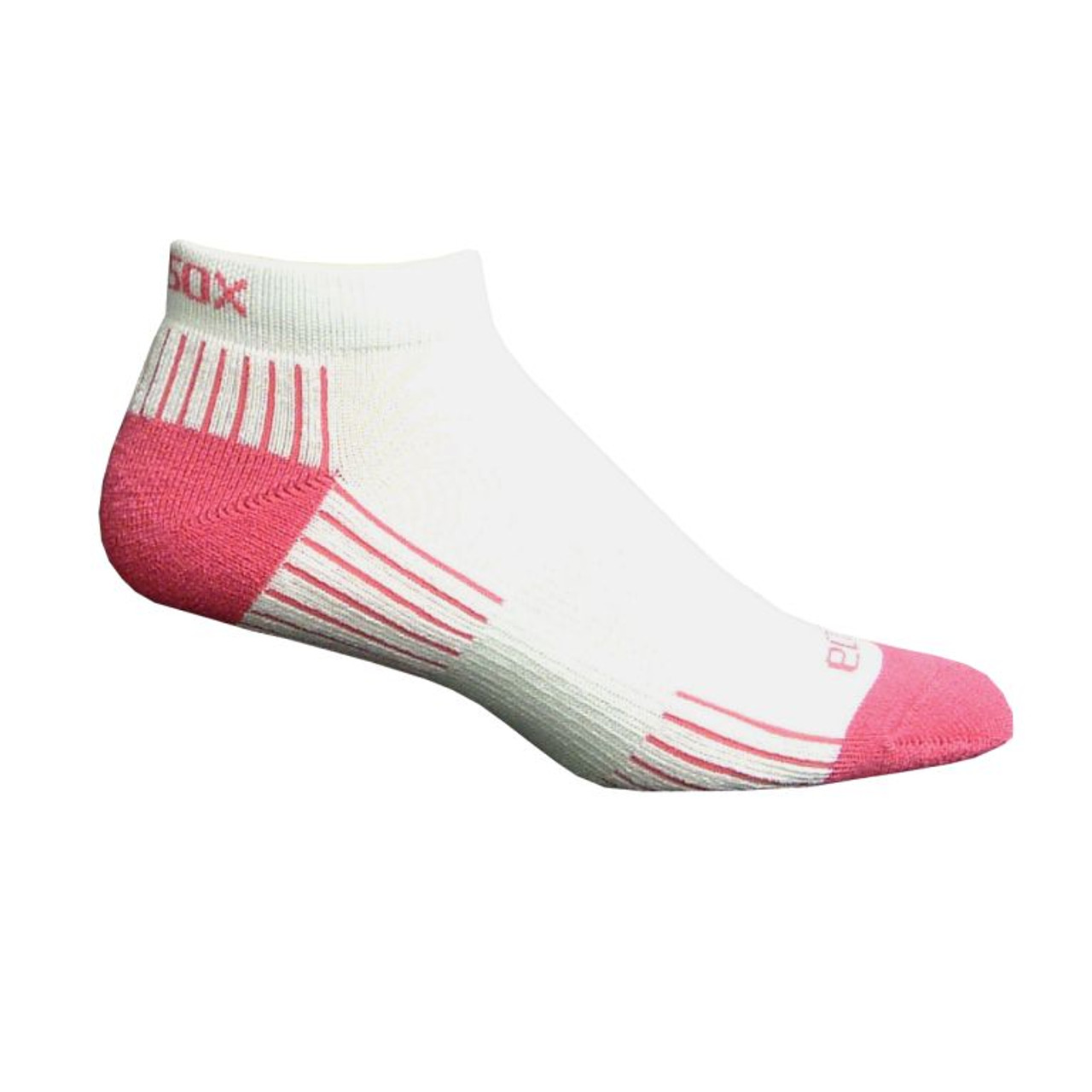 Active Sport Lo Cut Medium White with Pink by Eco Sox