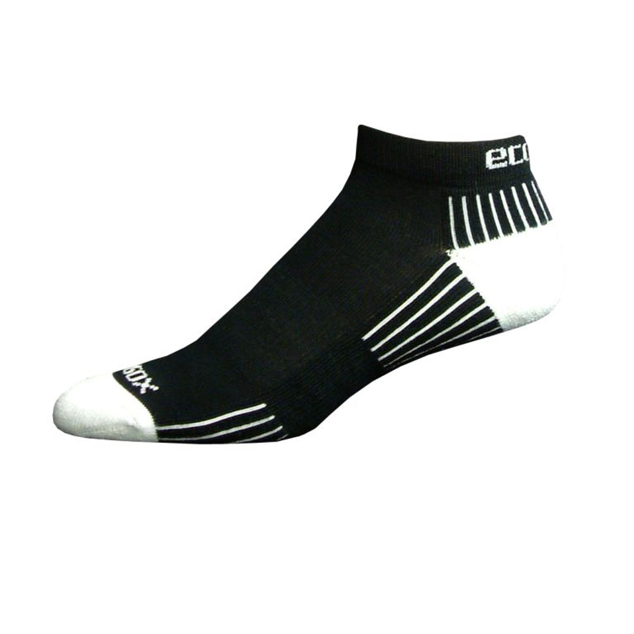Active Sport Lo Cut Medium Black with White by Eco Sox