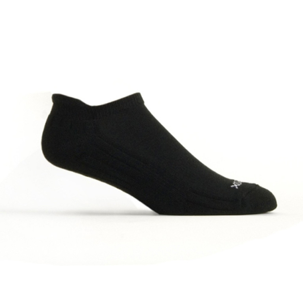 Active Sport Performance Tab Medium Solid Black by EcoSox