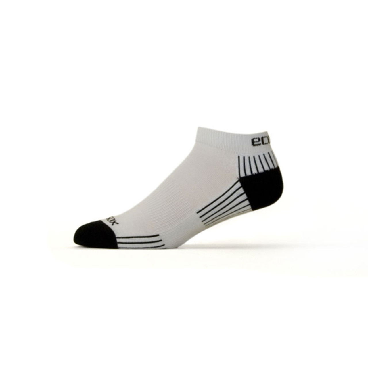 Active Sport Lo Cut Medium White with Black