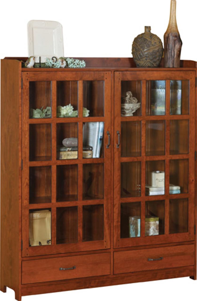 HC 2 Door Book Case W/Drawers.