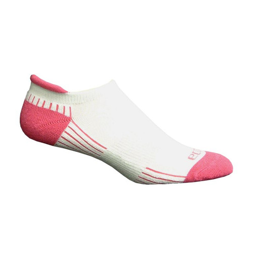 Active Sport Performance Tab Medium White with Pink by EcoSox