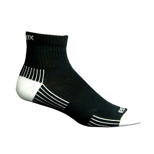 Active Sport Quarter Large Black with White by Eco Sox