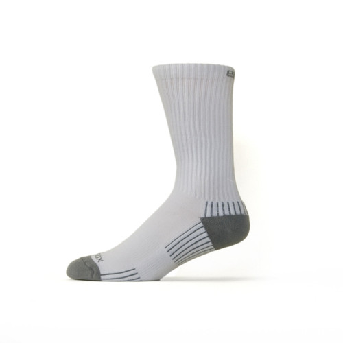 Active Sport Crew Large White with Gray by Eco Sox