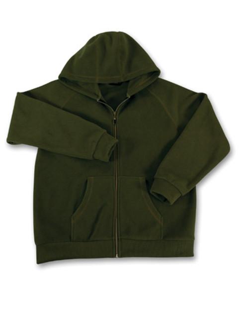 Akwa Mens Corduroy Bonded Fleece Zip Hoodie