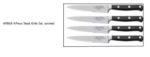 Lamson Earth Forged 4-Piece Steak Knife Set, serrated