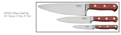 Lamson  Rosewood Forged 3-Piece Chef Set