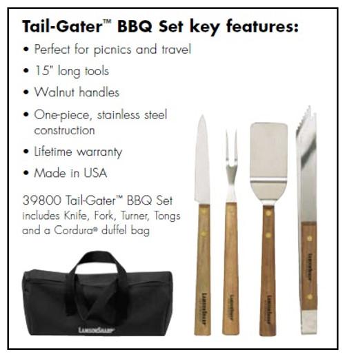 Lamson  Walnut Tail-Gater BBQ 4 Piece Set