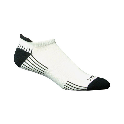 Active Sport Tab Medium White with Black by EcoSox
