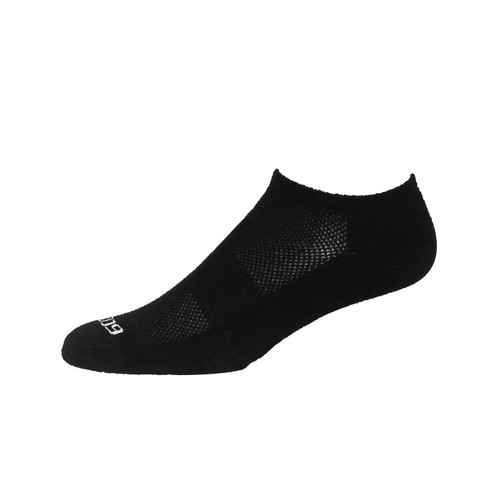 Medium Active Sport Mesh No Show Solid Black by EcoSox