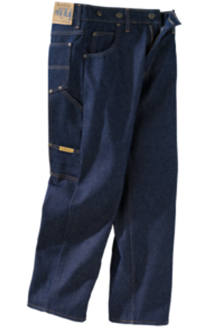 Prison Blues Men's Work Jeans Without Suspender Buttons