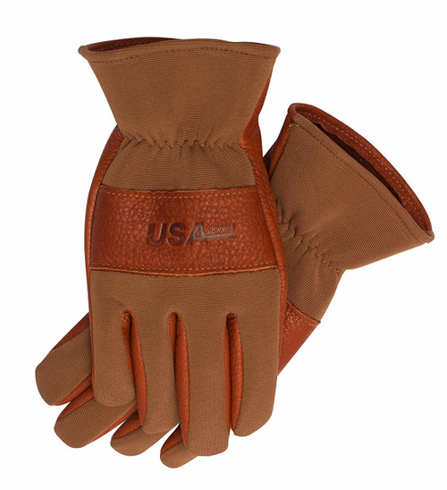LINED SMOOTH GRAIN AMERICAN BUFFALO LEATHER