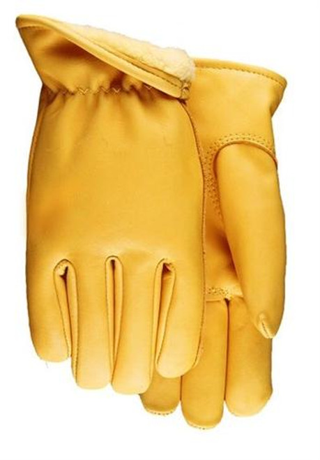 LINED SMOOTH GRAIN SADDLE TAN COWHIDE LEATHER