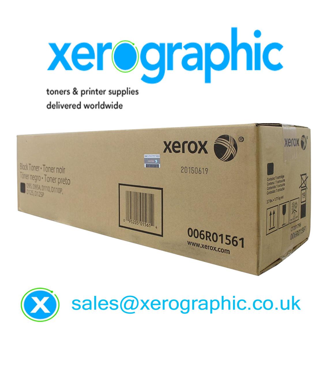 Xerox D95, D110, D125P, Printer Genuine Black Toner Cartridge 006R01561,  6R01561, (£149 00)