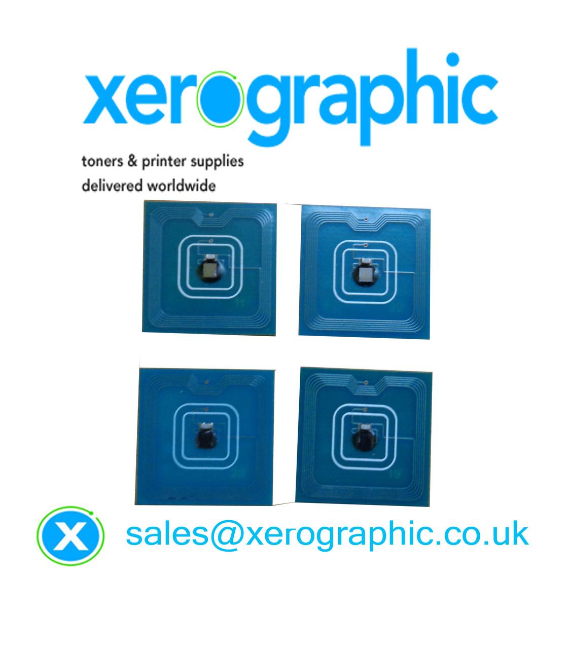 4 X CYMK Genuine Color Drum Chip 013R00672, 013R00671 Xerox C75, J75  Digital Press Refill