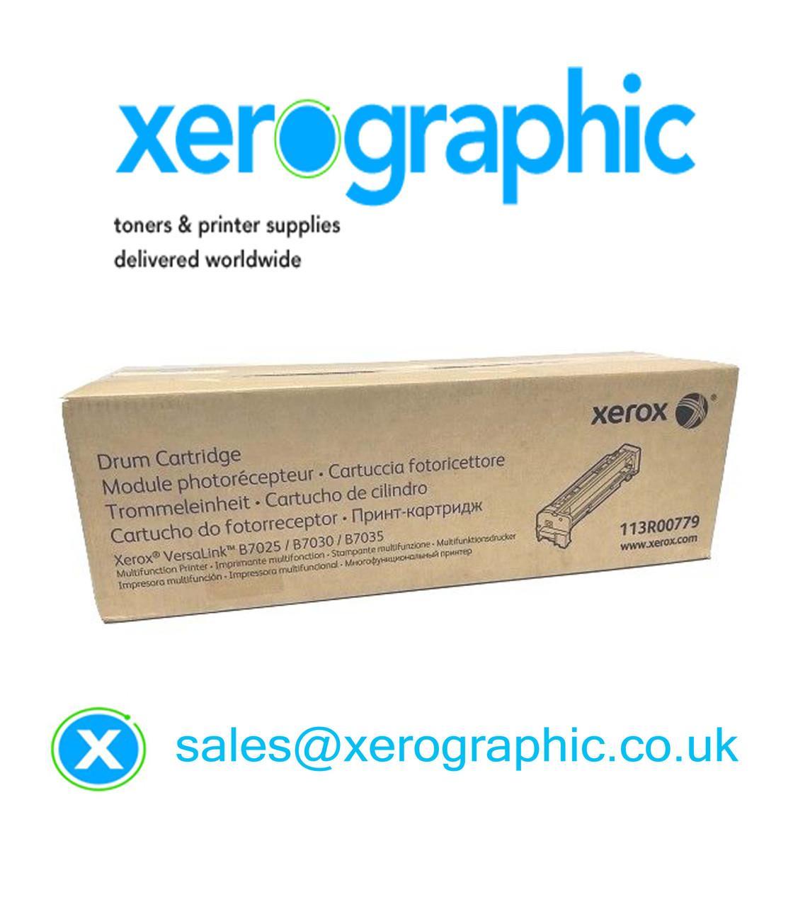 Xerox VersaLink B7025, B7030, B7035, Genuine Black Drum Cartridge  113R00779, 113R779