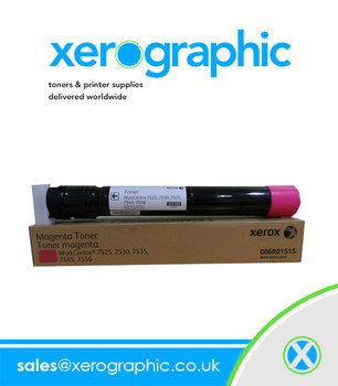 Xerox WorkCentre 7970, 7840, 7855, Genuine Magenta Toner Cartridge 006R01515