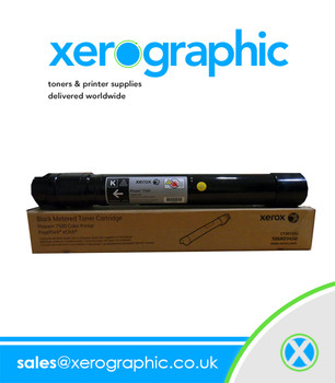 Xerox Phaser 7500 Color Printer Genuine Xerox Metered Black Toner Cartridge 106R01450 106R1450