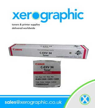 Canon C2020 C2025 C2030 Genuine Magenta Toner Cartridge C-EXV 34 3784B002[AA]