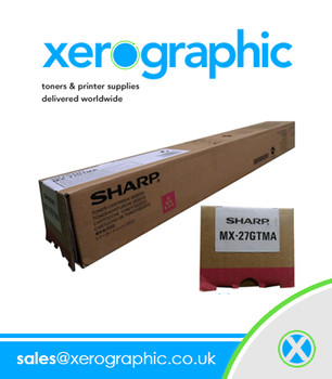 Sharp Genuine Magenta Toner Cartridge MX - 27GTMA