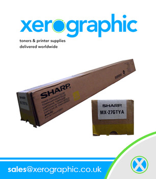 Sharp Genuine Yellow Toner Cartridge MX - 27GTYA