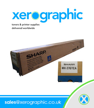 Sharp Genuine Cyan Toner Cartridge MX - 27GTCA