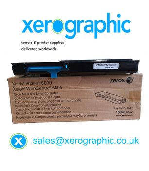 Xerox Genuine Cyan Metered Toner Cartridge, WorkCentre 6605, Phaser 6600 106R02237