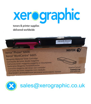 Xerox WorkCentre 6605, Xerox Phaser 6600 Genuine Magenta Metered Toner Cartridge, 106R02238