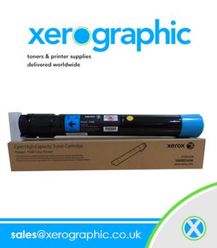 Xerox Genuine Phaser 7500 Color Printer Cyan Toner Cartridge 106R01433