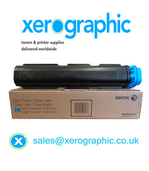 Xerox Versant 2100 / 3100 Press Genuine Metered Cyan Toner Cartridge 006R01627