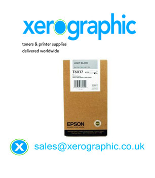 Epson Genuine Light Black Ink Cartridge Pro 7880, 9800, 7880, 9880 High Capacity T6037,