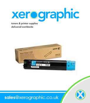 Xerox Phaser 6700 Genuine High Capacity Cyan Toner Cartridge 106R01507