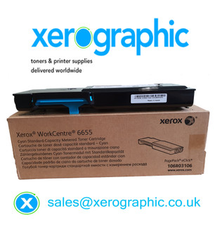 Xerox VersaLink C400, C405 Genuine Cyan Metered Toner Cartridge 106R03106