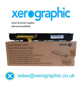 Xerox VersaLink C405, C400, Genuine Yellow Metered Toner Cartridge, WorkCentre 6605, Phaser 6600, 106R02239