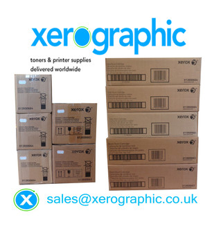 Xerox Color 550, 560, 570, C60, C70, Xerox WorkCentre 7965, 7975, CMYKK Multi Pack Genuine Color & Black Drum Cartridge 013R00664, 013R00663