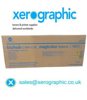 Genuine Konica Minolta BIZHUB C10P /C10 Magicolor 255CK Yellow Toner Cartridge TN212Y (A00W372) TN-212Y